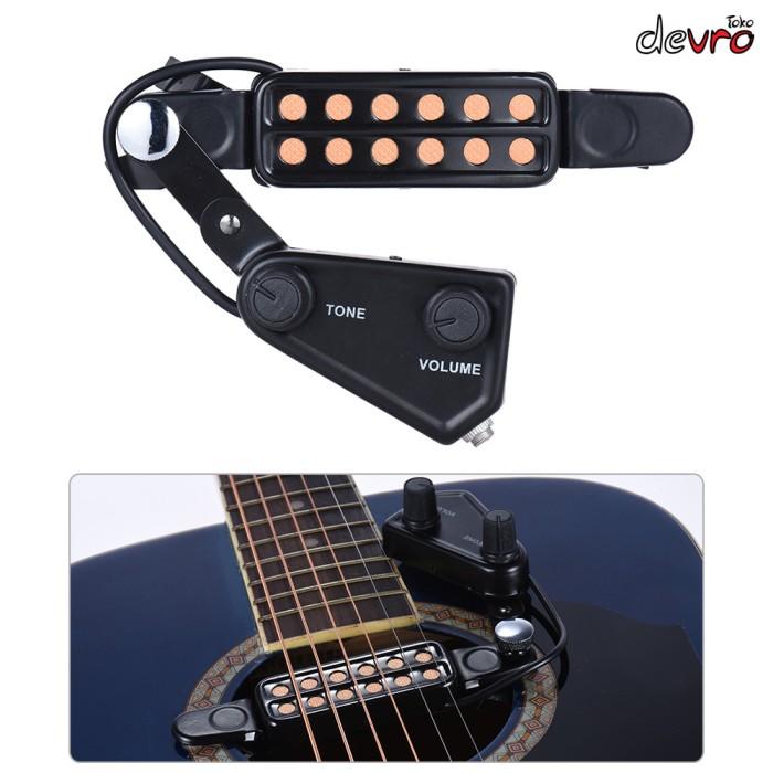 harga Transducer gitar akustik 12 hole with tone volume control - mic gitar Tokopedia.com