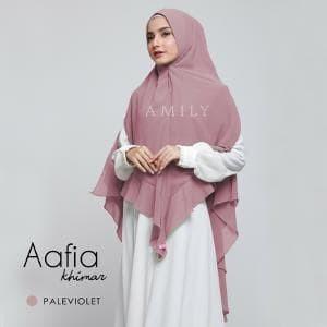 Wanita Muslim Khimar Aafia PALE VIOLET Khimar Antem Amily Hijab