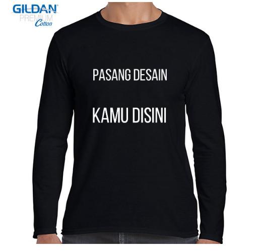 Jual Kaos Gildan Lengan Panjang Pria Costom Satu Sisi Hitam Jakarta Timur Lineal Store Tokopedia