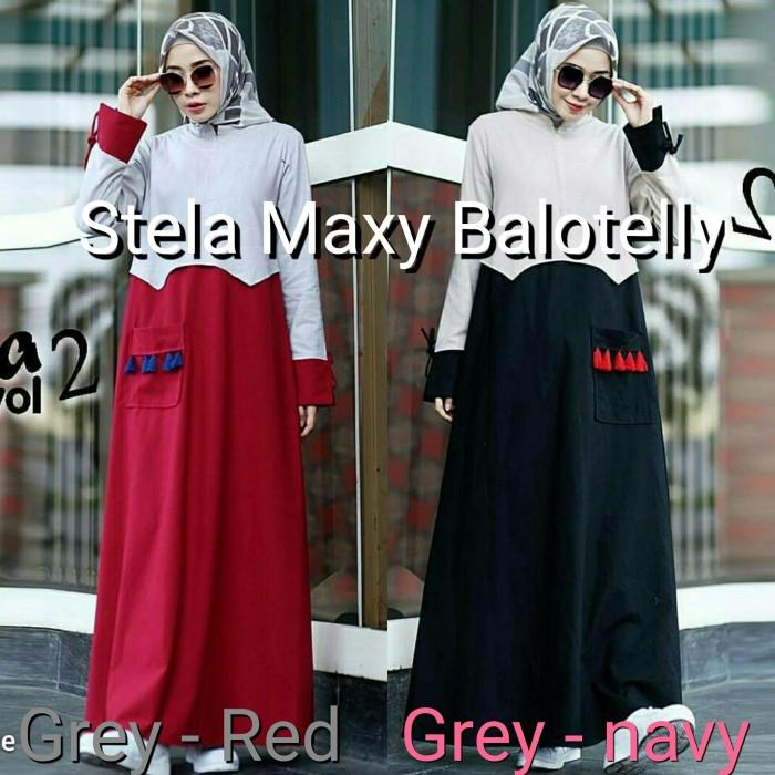Jual Top Baju Muslim Wanita Murah Gamis Dress Gaya Baru Stela Dress Kota Bandung Top Sale Tokopedia