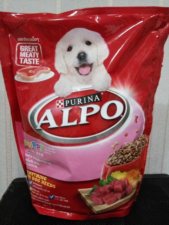 Makanan anjing - alpo puppy beef and vegetable flavour (450gr)