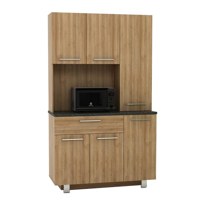 Jual Ready Stock Lemari Dapur Minimalis Alfred Kitchen Set Abu