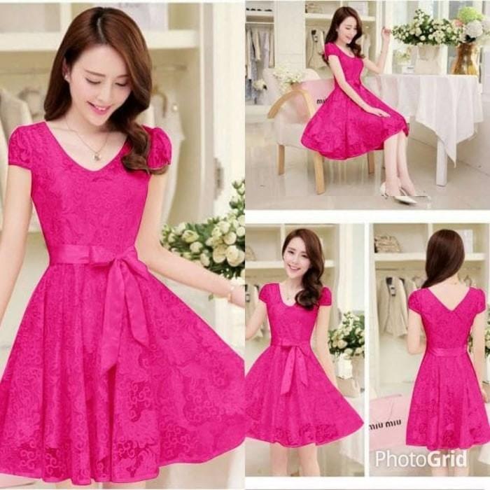 Wanita Fashion Trendy Dress Anggun dress natal murah dress pesta baju bcd08af45a