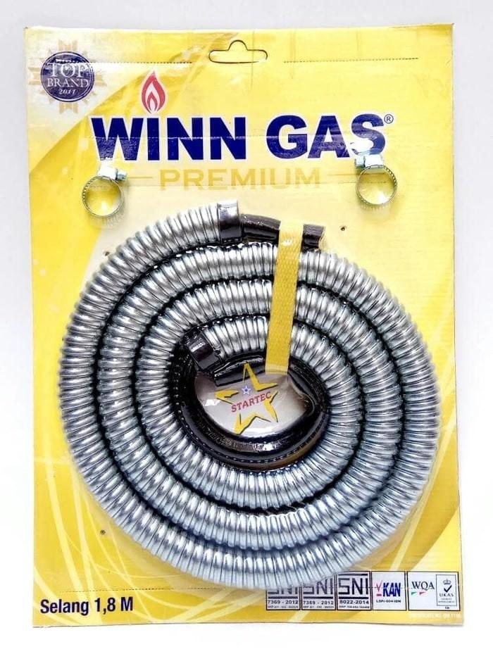 harga Winn gas - selang gas spiral premium 1,8m Tokopedia.com