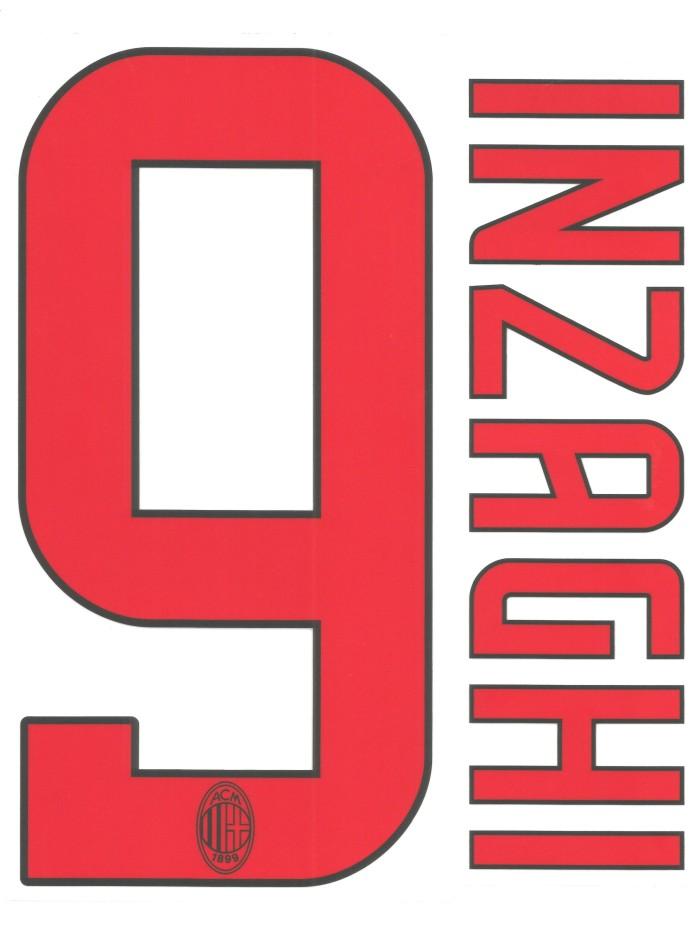 harga Original nameset ac milan 2008-09 away. inzaghi. for original jersey Tokopedia.com
