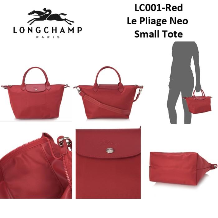 LONGCHAMP le pliage neo small tote bag LC001 - Maroon