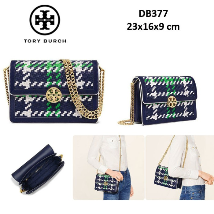 b353e4bcbf2 Jual TORY BURCH duet chain woven convertible bag DB377 - Merah ...