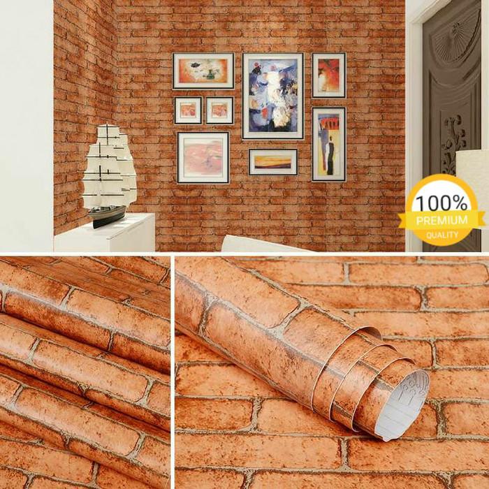 Jual Wallpaper Dinding Ruang Tamu Kamar Termurah Bata Coklat Minimalis Jakarta Timur Ermy Online Shop Tokopedia