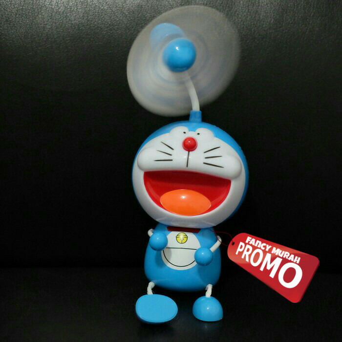 harga (promo) lampu tidur kipas angin doraemon duduk Tokopedia.com