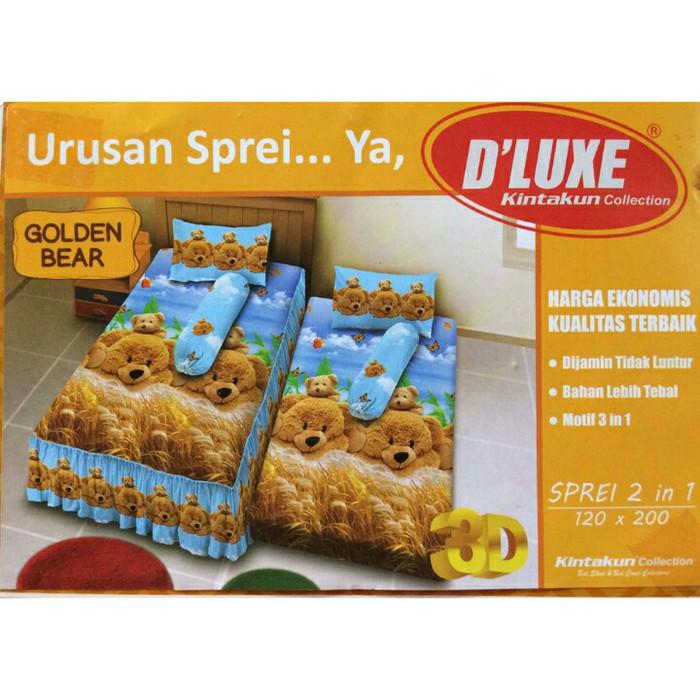 harga Sprei single 2 in 1 kintakun deluxe sorong 120x200 cm golden bears Tokopedia.com