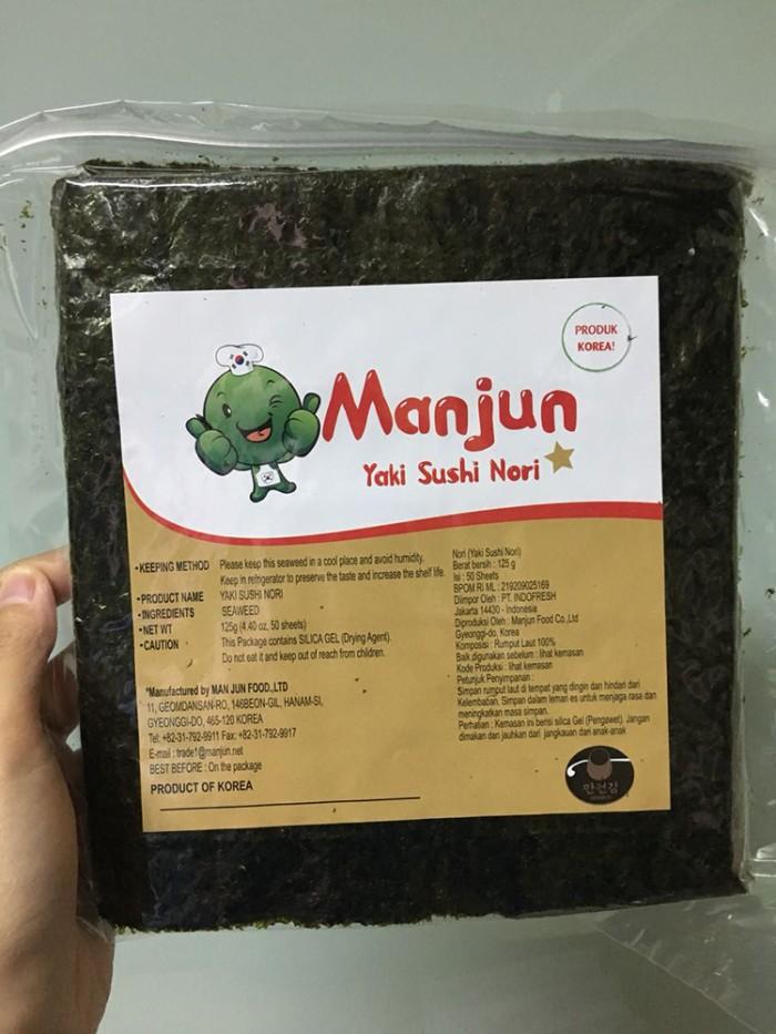 harga Sushi nori manjun seaweed rumput laut 50 sheets/lembar Tokopedia.com