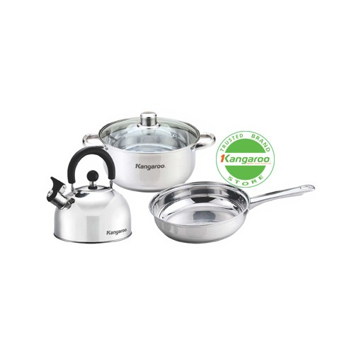 cookware set/ alat masak/ panci kangaroo kg996