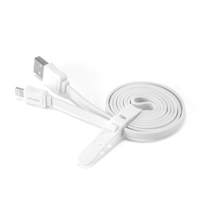 Vivan CL100 Plastic Pouch 1M Lightning Data Cable for iPhone