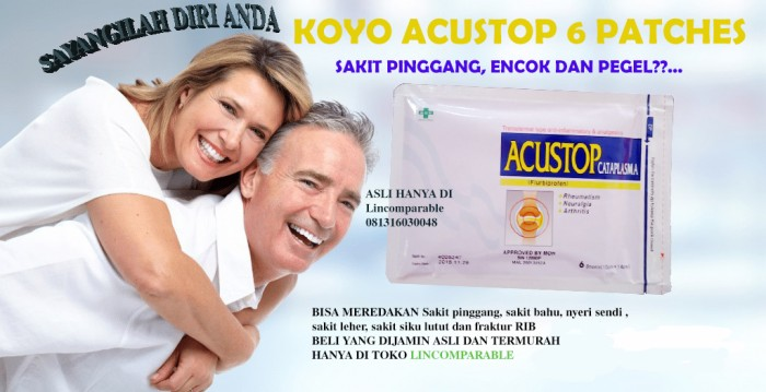 harga Koyo acustop cataplasma plaster pereda sakit bahu lutut isi 6 patch Tokopedia.com