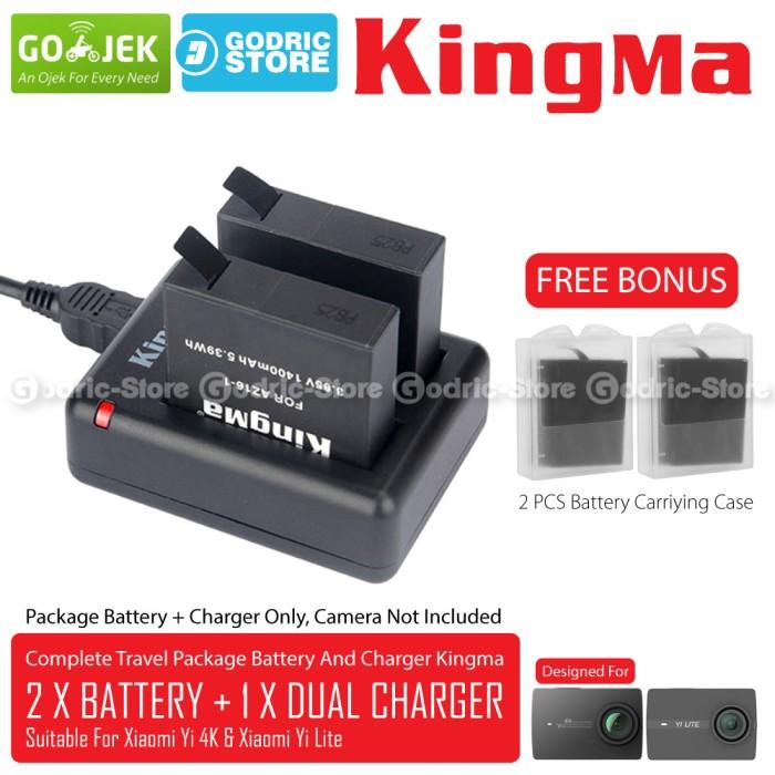 harga Kingma paket complete battery charger set for xiaomi yi 4k plus & lite Tokopedia.