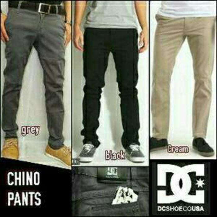Celana Chino Pria Black Grey Cream - Jual Bermacam Celana Jeans PDL