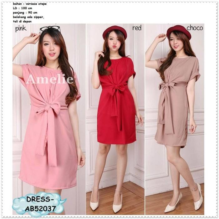 harga Sexy Party Mini Dress Gaun Pesta Korea Import Pink Red Merah Imlek Tokopedia.com