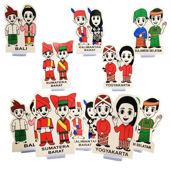 Jual Mainan Peraga Pakaian Adat Kota Bandung Seven Crayon Tokopedia