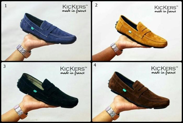 harga Sepatu pria casual slip on kickers jevlin moccasin slop Tokopedia.com
