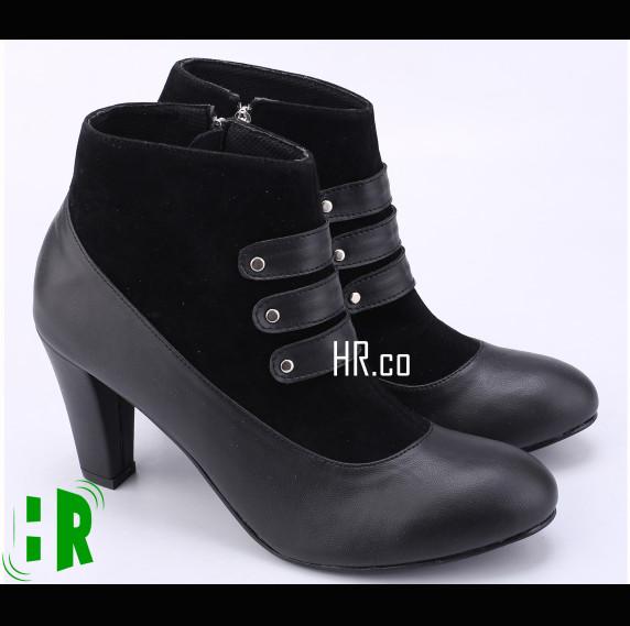 harga Sepatu High Heels Boots Wanita Boot Cewek Elegan Kece Cantik Cibaduyut Tokopedia.com