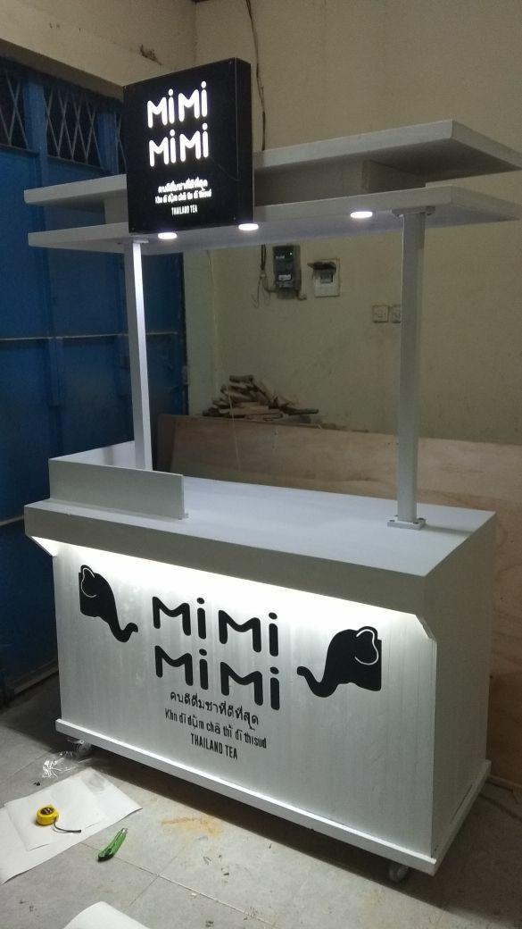 harga booth jati belanda duco / gerobak / rombong minuman thai tea Tokopedia.com