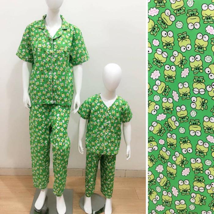 harga Baju tidur piyama couple mom&kids motif kero green Tokopedia.com
