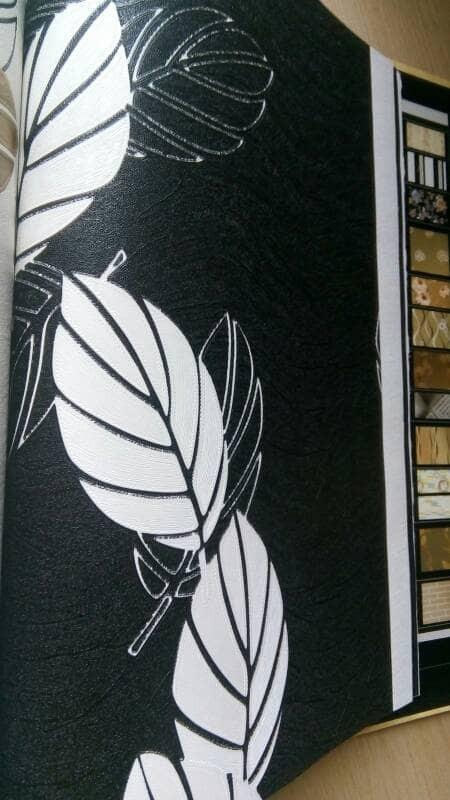Jual Wallpaper Dinding Daun Hitam Putih Modern Minimalis Timbul Emboss 3d Kota Tangerang Selatan Efron Decor Tokopedia