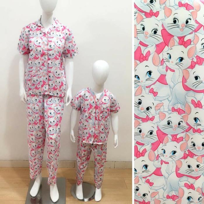 harga Baju tidur piyama couple mom&kids motif cat marie Tokopedia.com