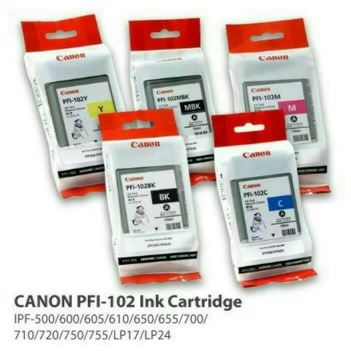 harga Cartridge plotter canon pfi-102 original. Tokopedia.com