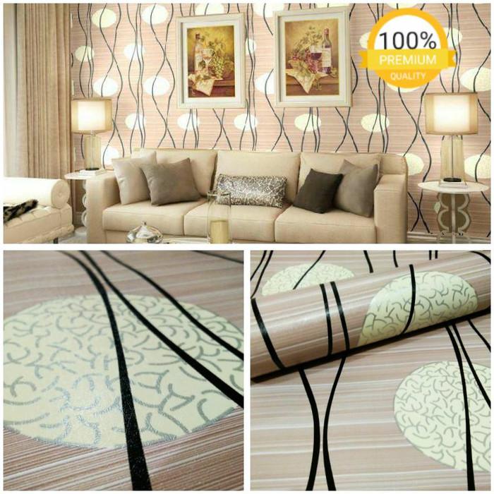 Jual Wallpaper Dinding Ruang Tamu Kamar Termurah Lampion Cream Garis Coklat Jakarta Timur Ermy Online Shop Tokopedia
