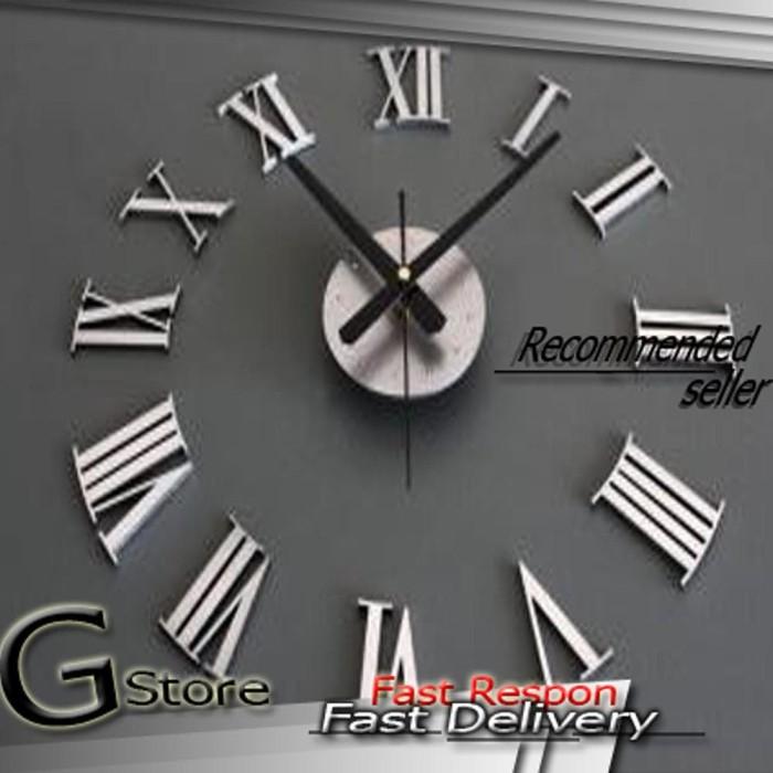 Jam Dinding Raksasa Diy Giant Wall Clock 30 60cm Diameter - Daftar ... acff0a299b