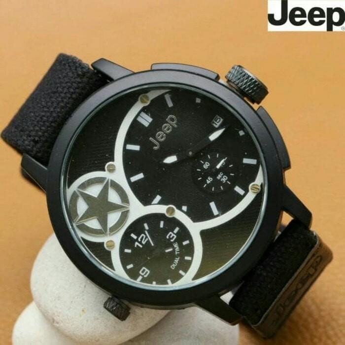 Jual Jam Tangan Pria   Cowok Jeep Kanvas Brown - Jam Murah ... 411f619bfe