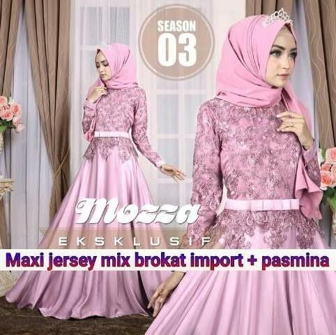 harga Set maxi cantik pink muda brokat jersey Tokopedia.com