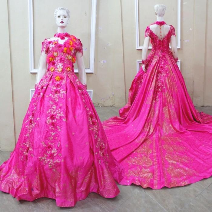 Jual Fanta Pink Flower 3d Gaun Jaguar Kebaya Pengantin Resepsi