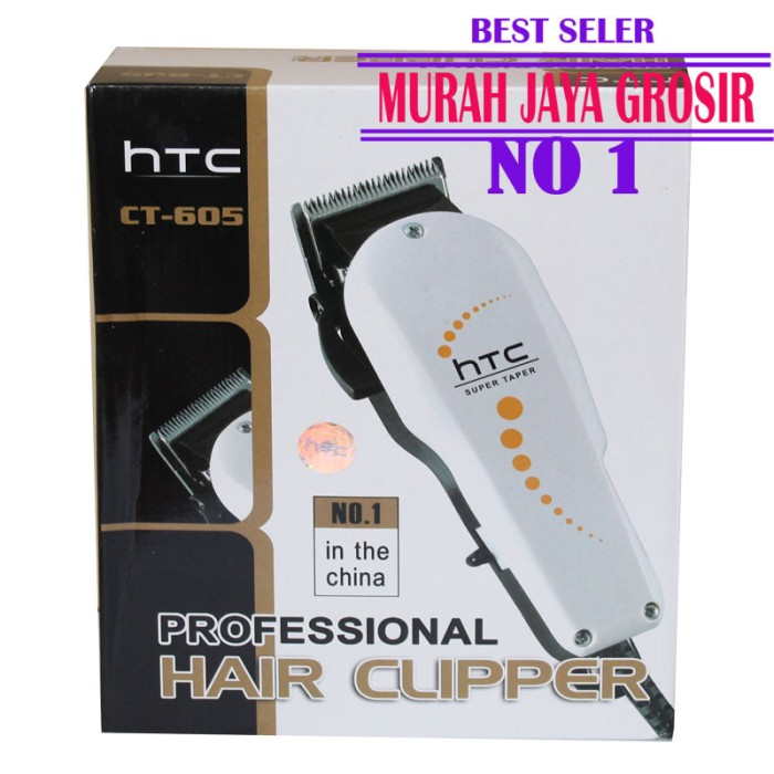 Jual HTC 605 ALat cukur rambut barbershop hair clipper elektrik ... 35ad7884f0