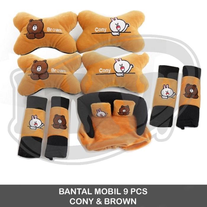 Bantal 9 pcs Cony Brown Line mobil SwiftAll New Swift