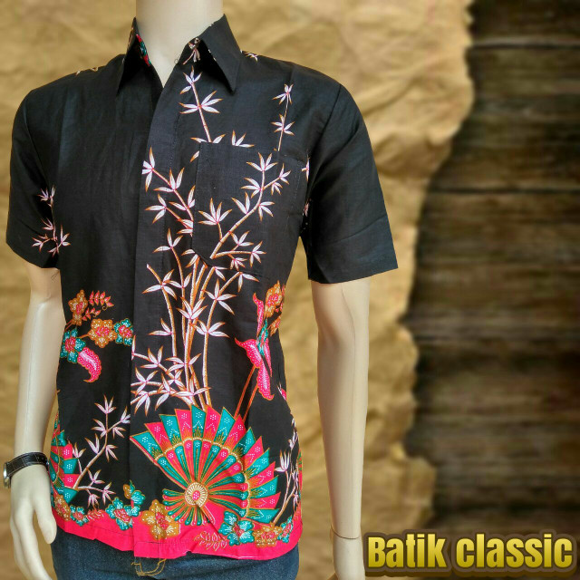 harga Kemeja batik pekalongan motif kipas dan pohon bambu Tokopedia.com