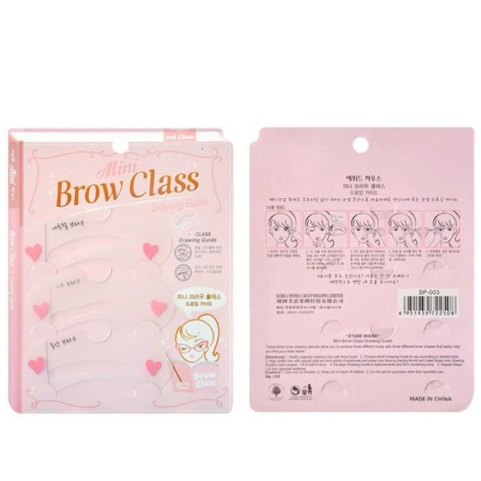 JBS Cetakan Alis Mini Brow Class - Eyebrow Stencil - Isi 3 Pcs