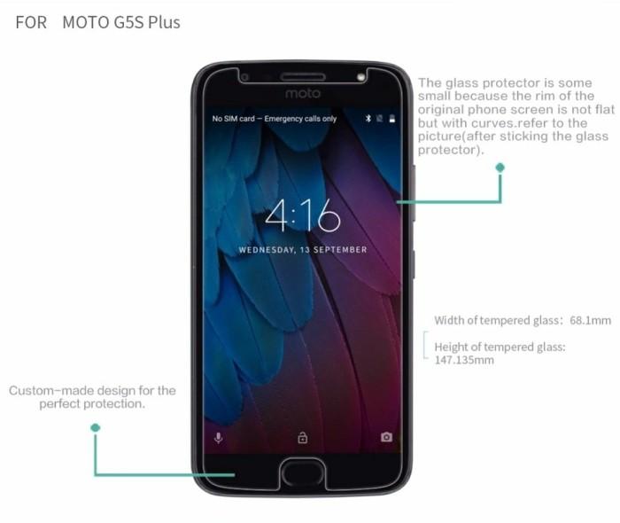Foto Produk MOTO G5S PLUS TEMPERED GLASS CLEAR SCREEN PROTECTOR MOTOROLA G5S PLUS - Putih dari Caseology Store