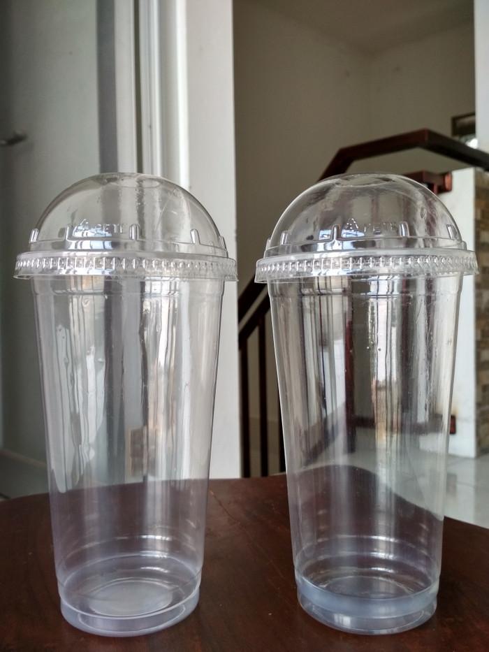 CUP PP 22 oz & Dome Lid CUP PP - Gelas Plastik & Tutup Cembung 22 oz