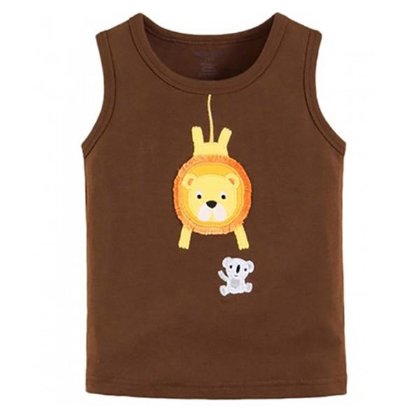 harga Baju kaos anak laki cokelat mom n bab - singa Tokopedia.com