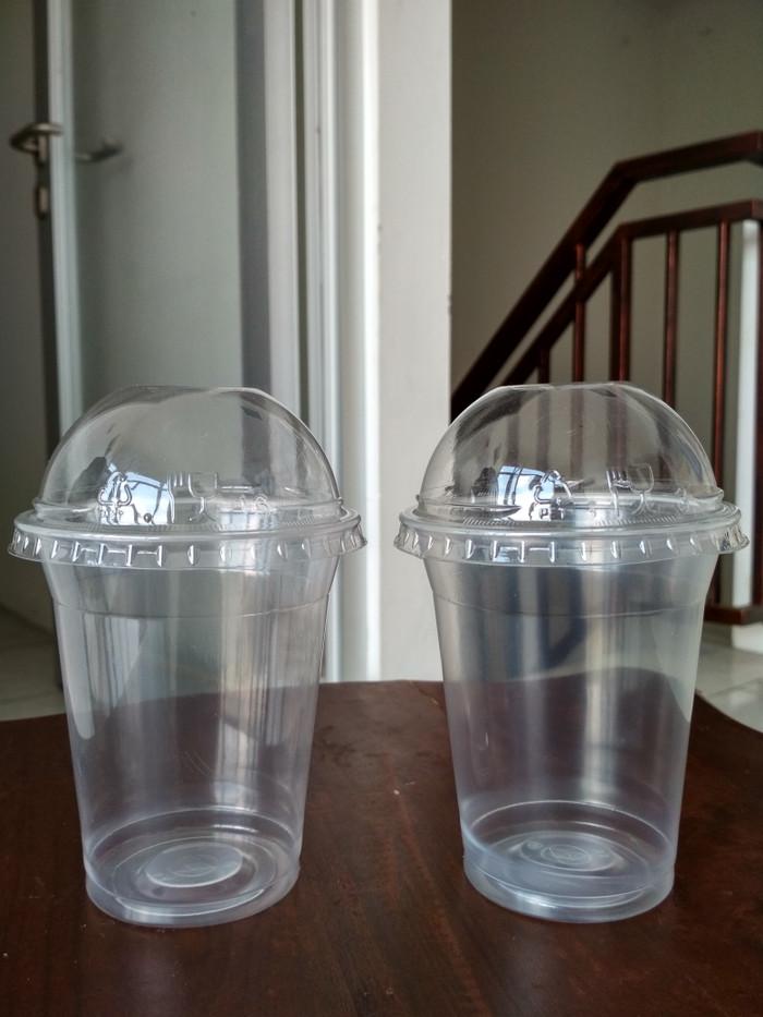 CUP PP 12 oz 14 oz & Dome LID - Gelas Plastik 12 14 oz & Tutup Cembung