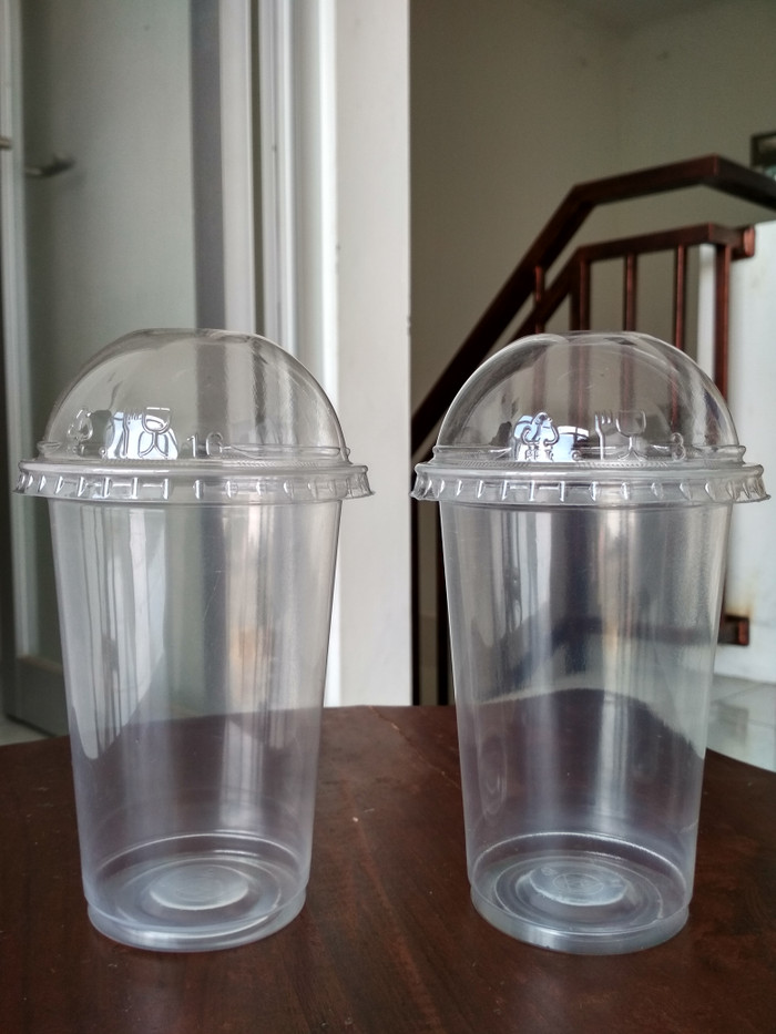 CUP PP 16 oz & Dome LID CUP PP - Gelas Plastik 16 oz & Tutup Cembung