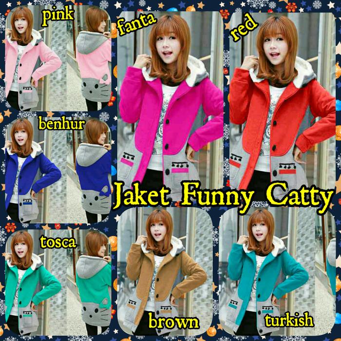 Jual Sweater Rajut Wanita Jaket Funny Catty - Hiits Collection ... 871746e118