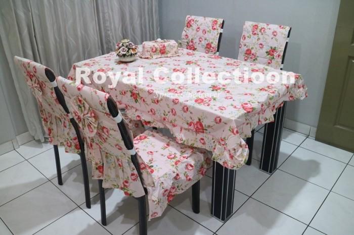 harga Set sarung kursi makan / taplak meja / ctc / cover kursi olivia pink Tokopedia.com