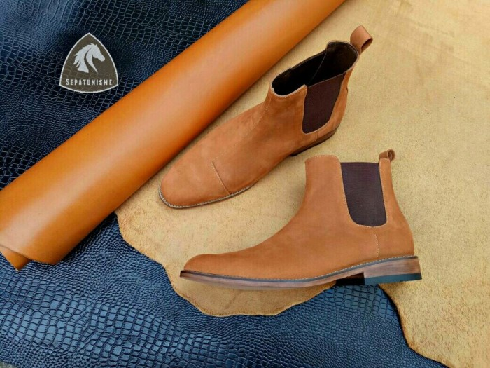 harga Sepatu kulit pria - sepatu kulit custom | chelsea boots - vanad Tokopedia.com