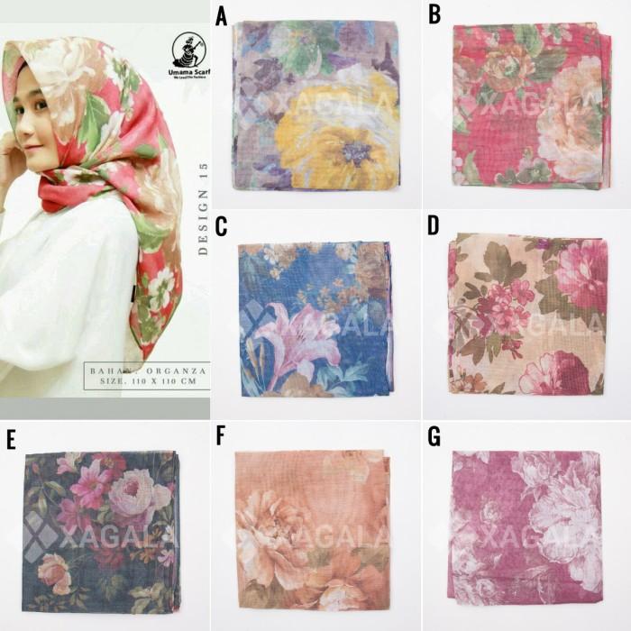 Hijab Segi Empat Umama Organza Print - Square Hijab Segiempat Jilbab