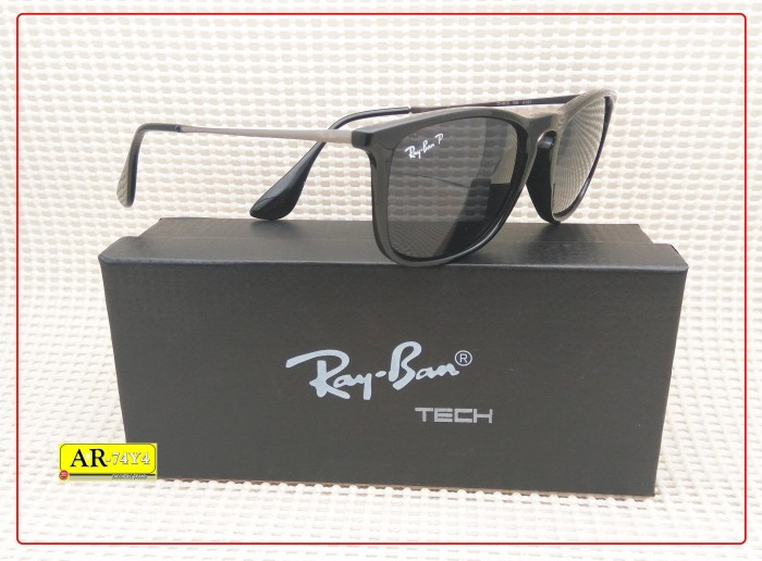 Sunglasses kacamata outdoor 4187 black polarized lens trendy 27ea287c69