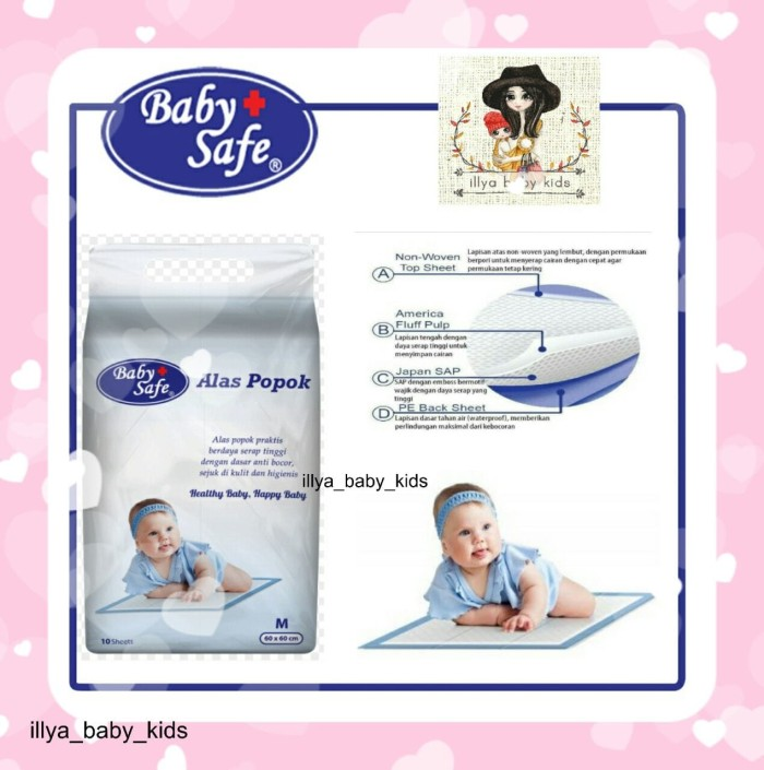 harga Baby safe underpad alas popok disposable sekali pakai isi 10 under pad Tokopedia.com