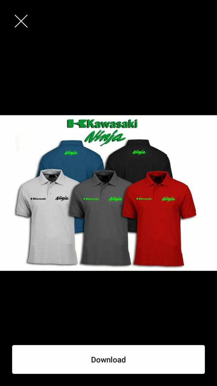 harga Polo shirt/baju/kaos kerah kawasaki ninja Tokopedia.com